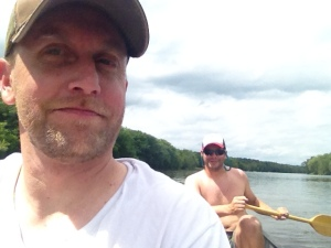 nate and i on the river
